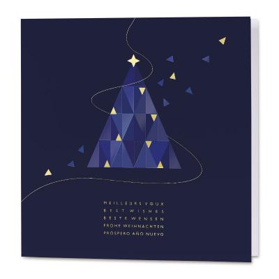 C'est une évidence : cette carte de vœux professionnelle avec le monde en aquare (840.115)