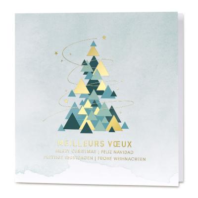 Carte de vœux entreprise formes géométriques et dorure (840.122)