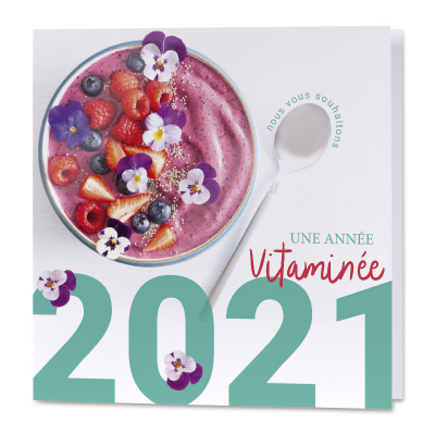 Carte de vœux entreprise une année vitaminée (840.147)