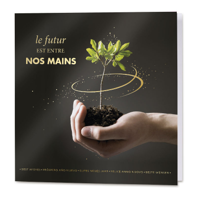 Carte de vœux entreprise message écologique (840.150)