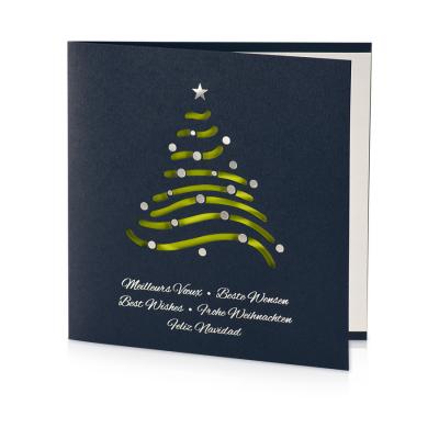 Carte de Noël sapin prédécoupé  (845.105)