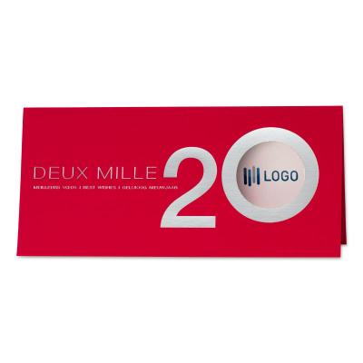 Carte rouge et argent deux mille 20 (849.030)