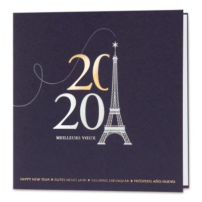 Carte Tour Eiffel bleu marine (849.102)