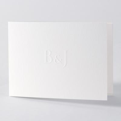 Eenvoud siert - stijvolle witte kaart (105.092)