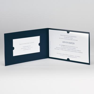 Romantische blauwe huwelijkskaart (106.007)