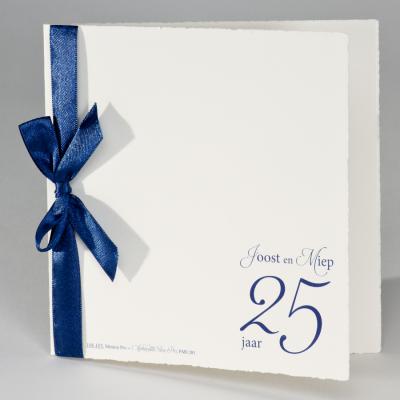 Oud-Hollandse aankondiging met blauw lint (106.103JUB)