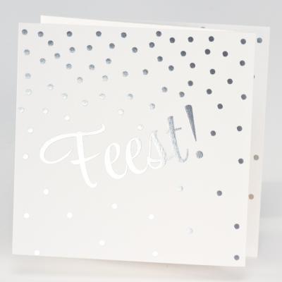 Drieluik FEEST met confetti in zilverfolie (106.310)
