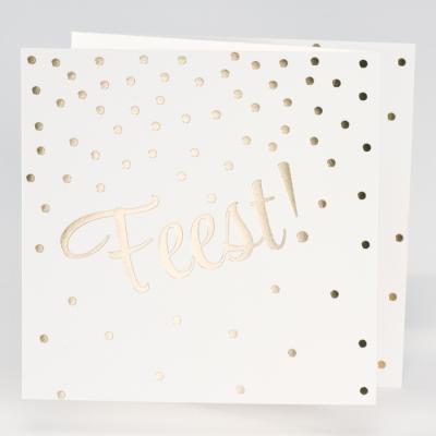 Drieluik FEEST met confetti in goudfolie (106.311)