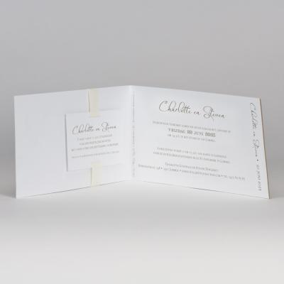 Langwerpige fotokaart kraft met beige (108.033)