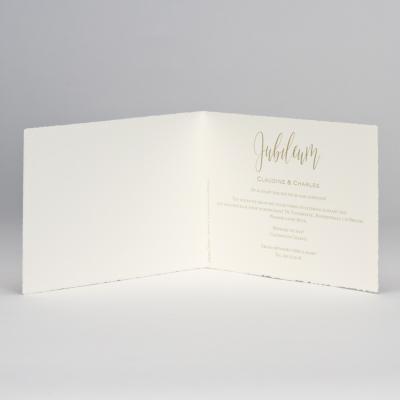 Jubileumkaart met gouden blaadjes (108.305)