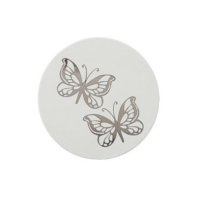 Sluitzegel met vlindertjes in zilverfolie (173.005)