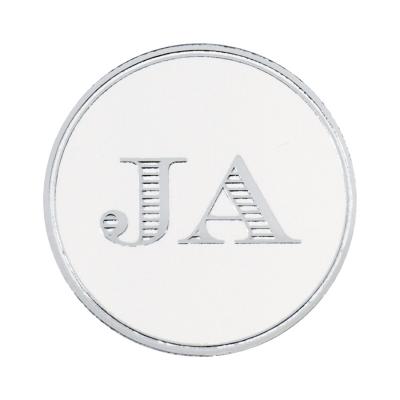 Sluitzegel JA in zilverfolie (175.101)