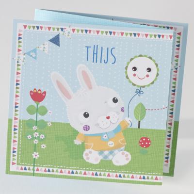 Drieluikje met kleurrijk konijntje (505.119)