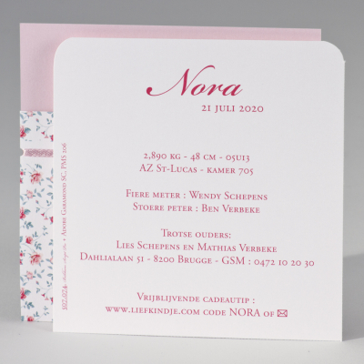 Pochettekaart met zachte bloemenprint (507.074)