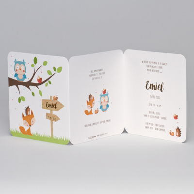 Drieluik met lieflijke bosdiertjes (507.085)
