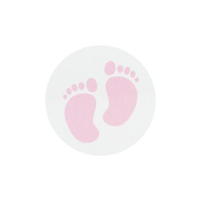 Sluitzegel roze voetjes (572.107)