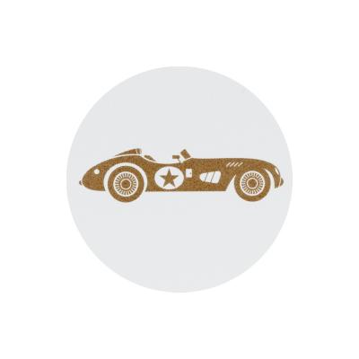 Sluitzegel bruine raceauto (573.105)