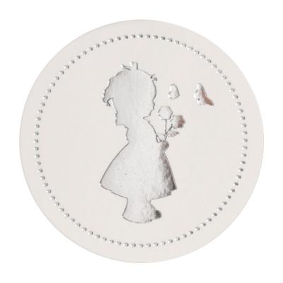 Luxe sluitzegel met meisje in zilverfolie (574.112)