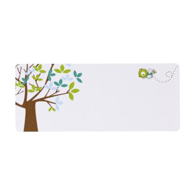 Adresetiket boom met blauw-groene blaadjes (574.202)