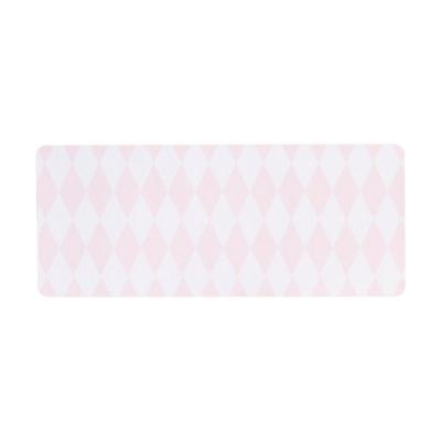 Adresetiket met roze ruitjes (575.207)
