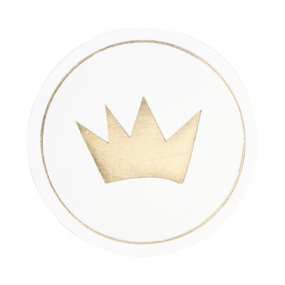 Sluitzegel kroon in goudfolie (576.101)