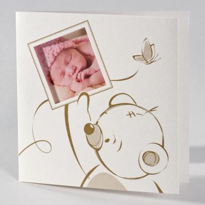 Fotokaart quarz met teddybeer en vlindertjes (586.085)