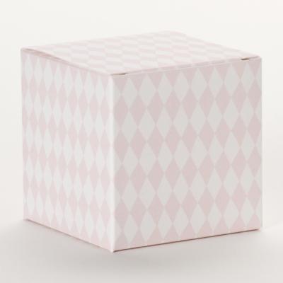 Kubus vichy roze-wit (715.067)