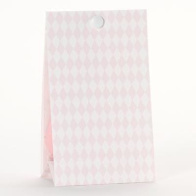 Snoepzakwikkel vichy roze-wit (745.067)
