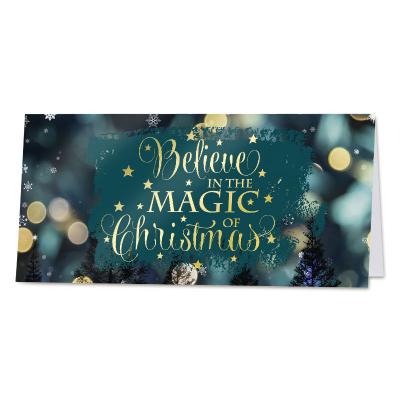 Magische wenskaart met vrolijke kerstquote  (840.027)